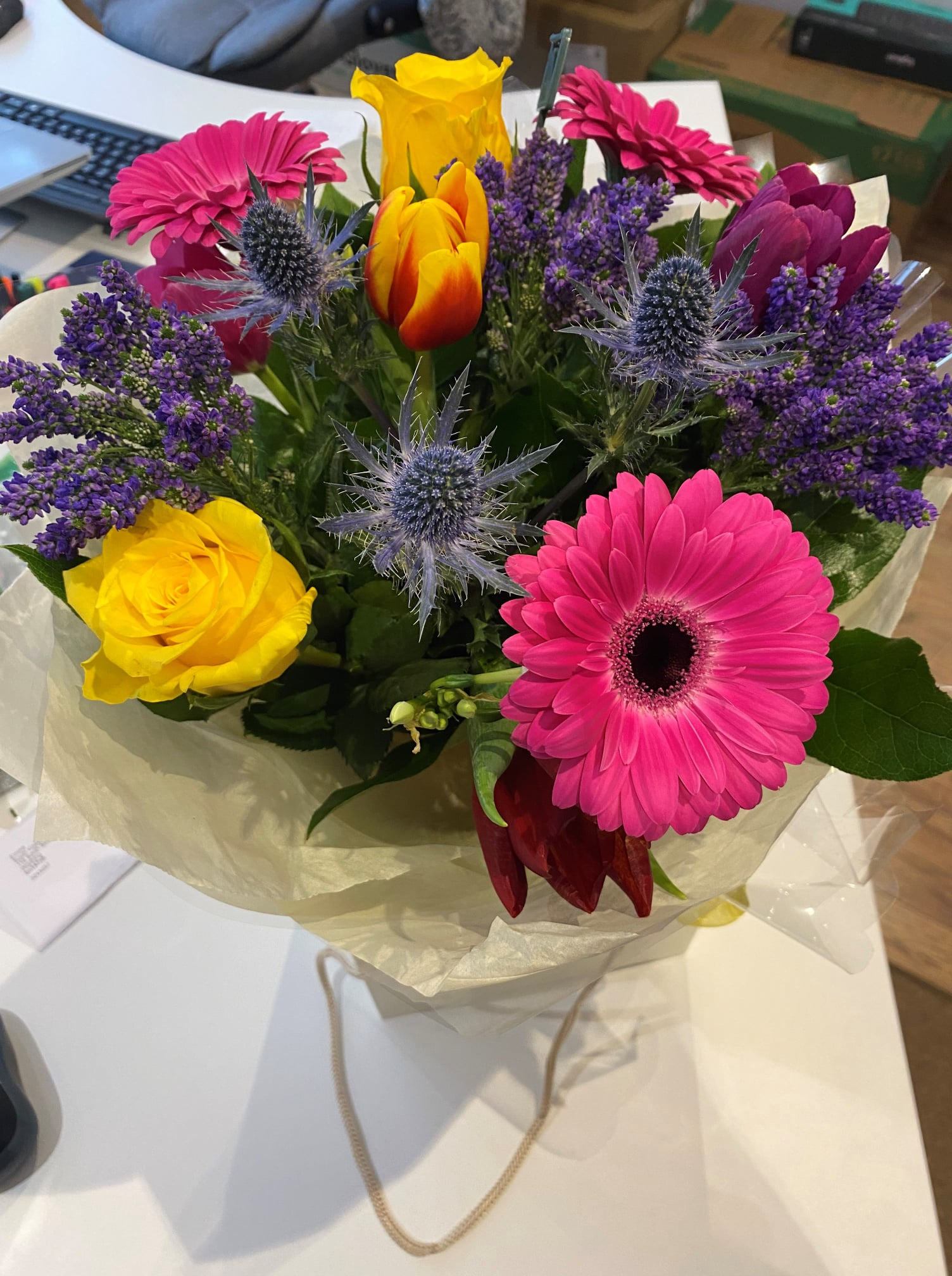 Lovely thank you from a client.